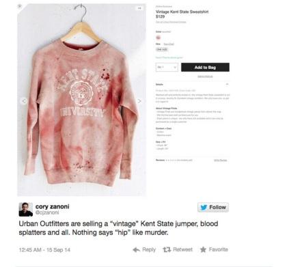 UO Sweatshirt scandal